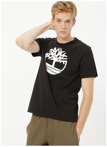 Timberland Timberland TB0A2C2R0011 SS Kennebec River Tree Logo T-Shirt Siyah